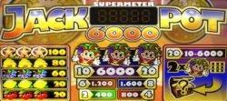 Kostenloser Spielautomat Jackpot 6000 - Auszahlungstabelle