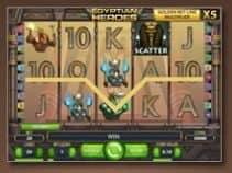 Linienverlauf der Golden Bet-Line des kostenlosen Casino-Spielautomaten Egyptian Heroes