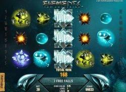 Wassersturm-Wild-Symbole des kostenlosen Online-Spielautomaten Elements