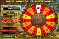 Das Jackpot-Rad des Online-Spielautomaten Mega Moolah