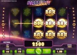 Lassen Sie uns bei Casino-Spielautomaten Starburst kostenlos gewinnen