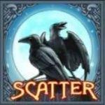 Online-Casino-Spielautomat Hall of Gods: Das Scatter-Symbol mit dem Raben
