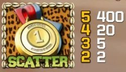 Kostenloser Online-Spielautomat Jungle Games: Scatter-Symbol