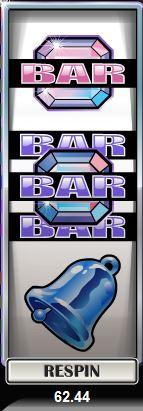 Re-Spin des Online-Casino-Automatenspiels Retro Reels Diamond Glitz