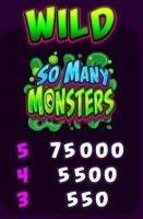 Wild-Symbol - Kostenloser Online-Casino-Spielautomat So Many Monsters