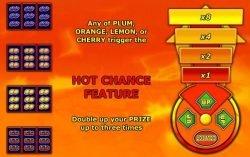 Spielautomat Hot Chance -- Auszahlungstabelle