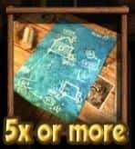 Blaupausen-Symbol des kostenlosen Casino-Spielautomaten The Exterminator