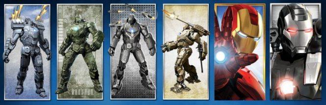 Gestapelte Symbole des kostenlosen Spielautomaten Iron Man 2