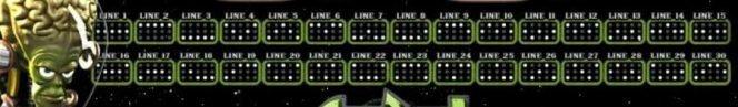 Gewinnlinien des Spielautomaten Arrival