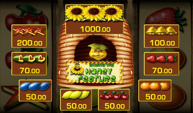 Auszahlungstabelle vom Honey Bee Online-Slot