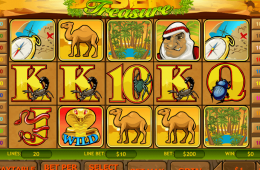 Kostenlos Spielautomat Desert Treasure spielen