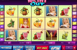 Bild vom kostenlosen online Spielautomat A night out