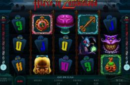 Bild vom kostenlosen online Spielautomat Alaxe in Zombieland