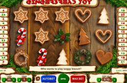Bild vom kostenlosen online Spielautomat Gingerbread Joy