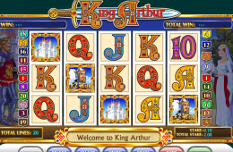 Bild vom kostenlosen online Spielautomat King Arthur