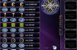 Bild vom kostenlosen online Spielautomat Millionaire Scratch