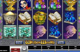 Bild vom kostenlosen online Spielautomat Witches Wealth