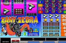 Bild vom kostenlosen online Spielautomat Zany Zebra