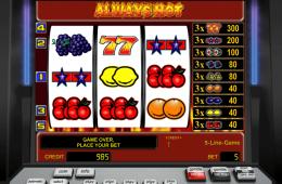 Bild vom kostenlosen online Casino Spiel Always Hot