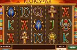 Kostenloser Online-Spielautomat Riches of Ra ohne Registrierung