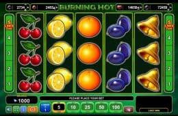 Kostenloser Online-Spielautomat Burning Hot
