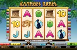 Kostenloser Online-Spielautomat Ramesses Riches
