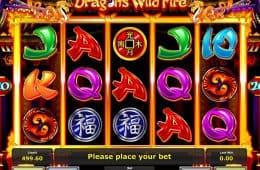 Kostenloses Online-Automatenspiel Dragons Wild Fire zum Spaß