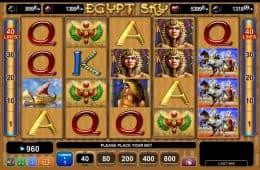 Kostenloser Casino-Spielautomat Egypt Sky