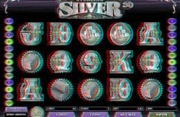 Online-Casino-Automatenspiel Sterling Silber 3D