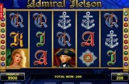 Kostenloser Spielautomat Admiral Nelson ohne Einzahlung