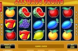 Automatenspiel All Ways Fruits ohne Download und ohne Einzahlung
