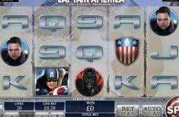 Spielen Sie Kostenlos den Online-Spielautomat en Captain America