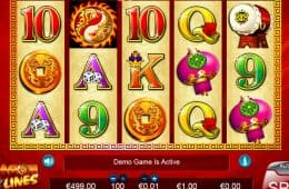 Spielen Sie das kostenlose Online-Casino-Automatenspiel Dragon Lines