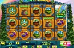 Spielen Sie kostenlos den Online-Spielautomaten Irish Charms.