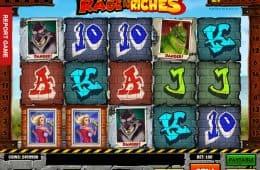 Casino freie Spielautomat Rage Riches von Play'n Go