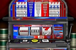 Online Spielautomat Red White Blue 7s