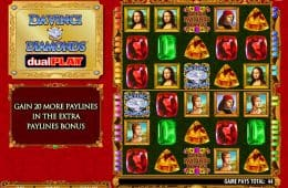 Da Vinci Diamonds DualPlay Slot