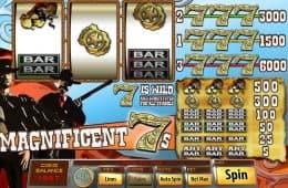 Spielen Sie Online-Spielautomat Magnificent 7s