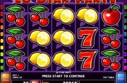 Gratis Online-Spielautomat 20 Star Party
