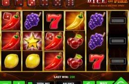 Dice on Fire Spielautomat ohne Registrierung spielen
