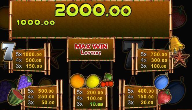 Kostenloses Max Slider Casino-Automatenspiel - Auszahlungstabelle