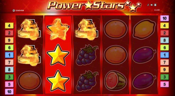 Wild-Symbol des Power Stars Casino-Spielautomaten