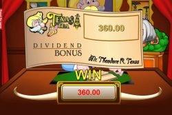 Sonderbonus-Feature des Texas Tea Spielautomaten - Texas Teas Bonusspiel-Gewinn