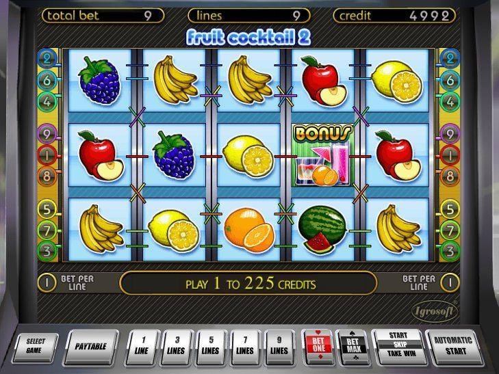 juegos de casino fruit cocktail gratis