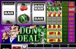 Máquina tragamonedas de casino Don Deal