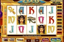 Imagen de la tragamonedas de casino Cleo Queen of Egypt