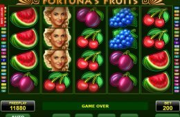Juega la tragamonedas online Fortuna's Fruits de Amatic
