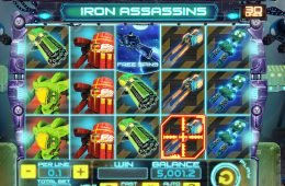 Tragaperras de casino Iron Assassins, de Spinomenal