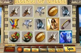 Máquina tragamonedas de casino Legends of Greece