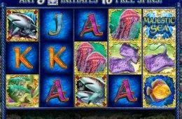 Una imagen de la tragaperras de casino gratis Majestic Sea